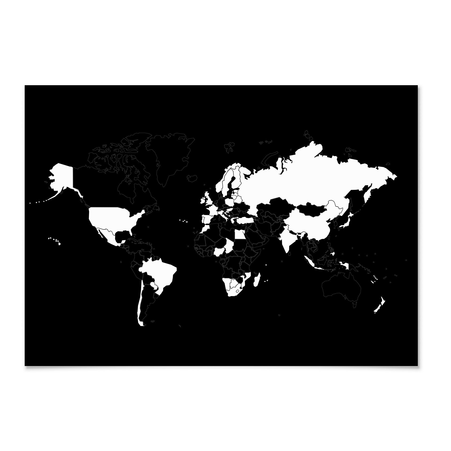 Go World Scratch Map Peel Off Countries Mark Your Travels Bold