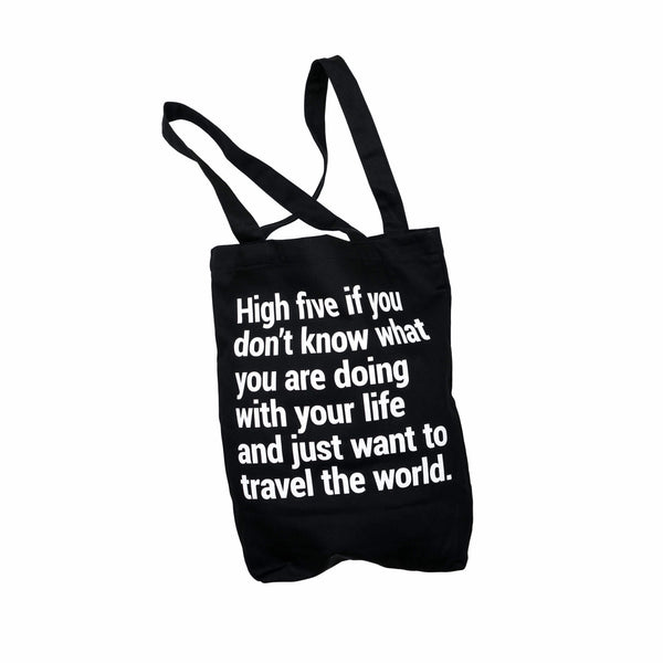 Travel Tote Bag With A Pocket & Lanyard