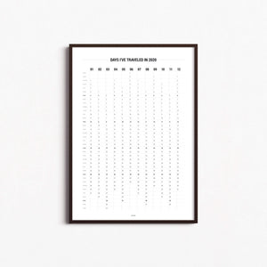 Digital Download | 2020 Calendar: Days I've Traveled