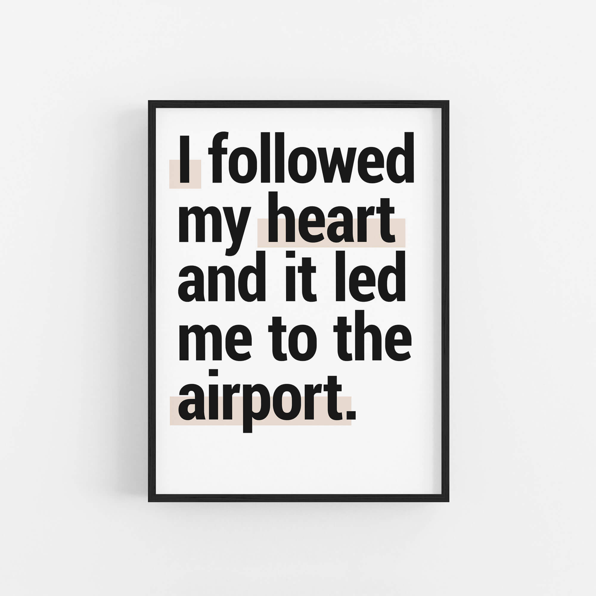 Going To The Airport Printable Travel Quote Set Of 2 Bold Tuesday