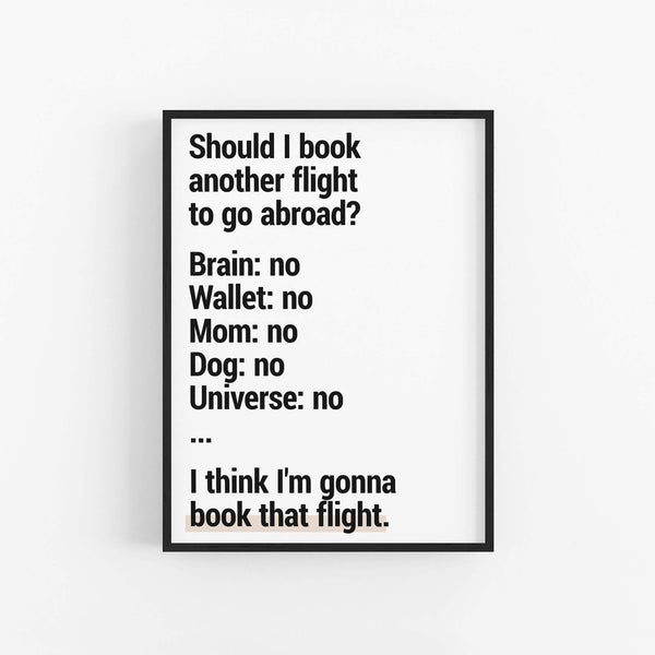 """Book The Flight"" - Printable Travel Quote"