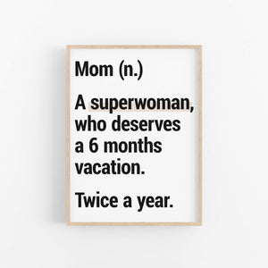"""Mom Definition"" 2 - Printable Travel Quote"