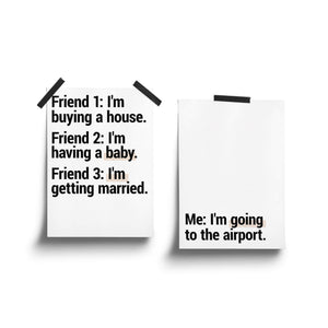"""Going To The Airport"" - Printable Travel Quote - Set of 2"