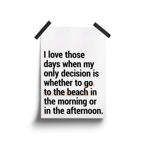 """Go To The Beach"" - Printable Travel Quote"