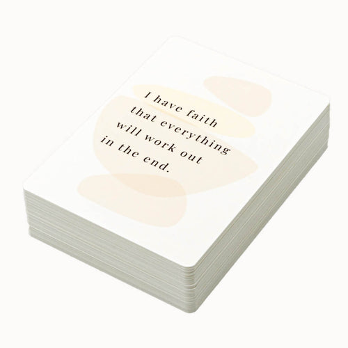 Motivational and affirmation cards for the vision board
