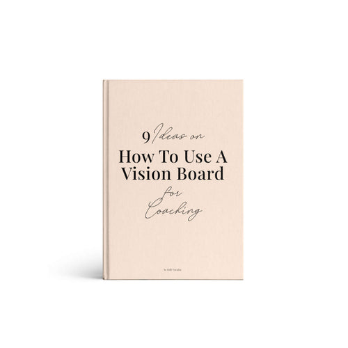 How to use vision board for coaching e-book