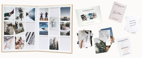 Vision Board Kit with affirmation cards