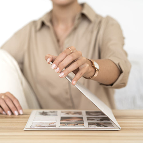 Vision board kit with woman