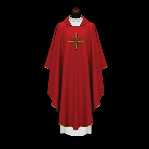 SIMPLE CROSS DESIGN CHASUBLE
