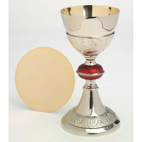 Silver plated Chalice with paten