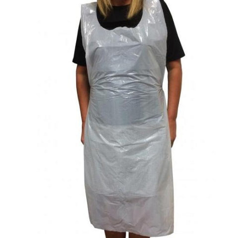 White Latex free disposable apron (100)