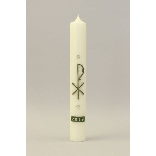 Green Chi Rho Wax Relief