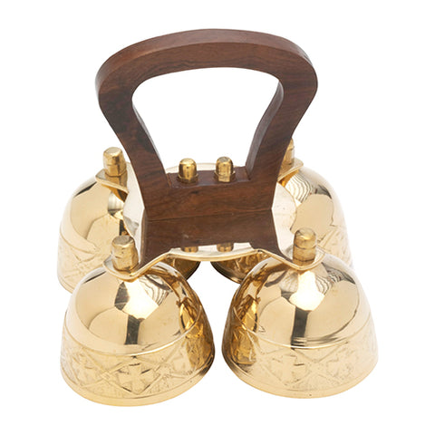 Altar bells with wooden handle
