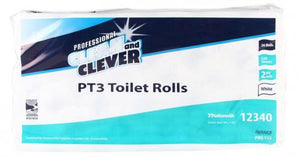 Clean & Clever Toilet Roll PT3 2ply White