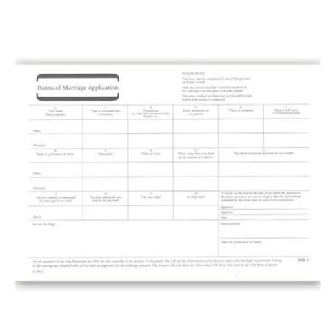 Banns Marriage Application Forms
