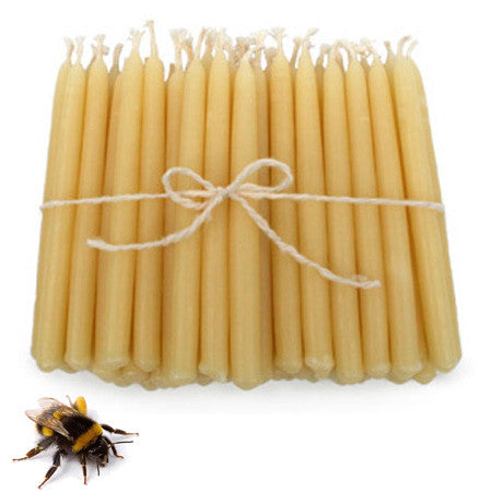 "1 3/8"" Diameter 25% Beeswax Altar Candles"