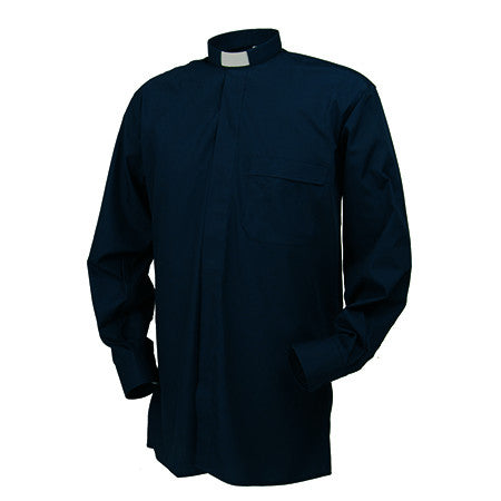 "Mens 1"" Tab Long Sleeve 100% Cotton Shirt"