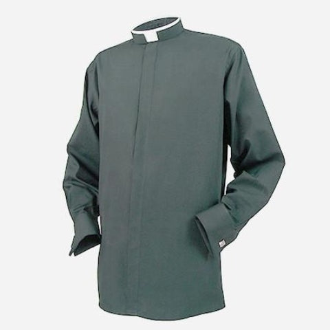 Mens Tonsure Collar Long Sleeve Shirt