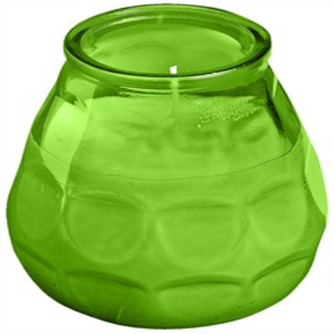 Twilight Glass filled Candles Green (6)