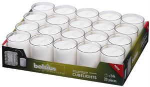 Re-light 24 Hr burn Candles in 8 colours, boxes (20) & (80)