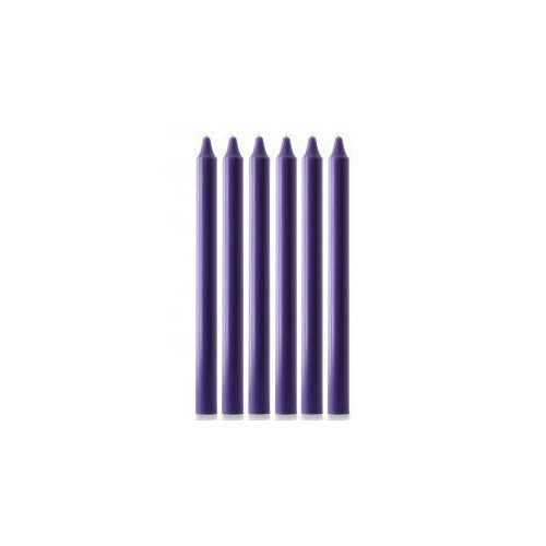 "Advent candle set 1 1/8 x 15"" candles (6) purple"