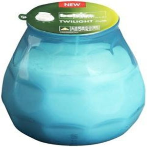 Twilight Glass filled Candles Turquoise (6)