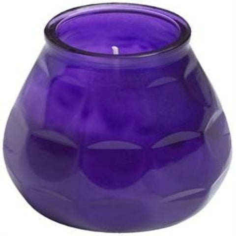 Twilight Glass filled Candles Purple (6)