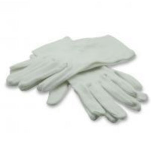 Two pairs of white gloves size medium