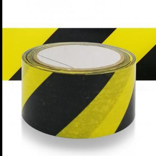 Black & Yellow Hazzard Tape 33m x 48mm Wide x 1 Roll