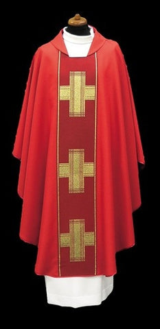 Chasuble with woven panel