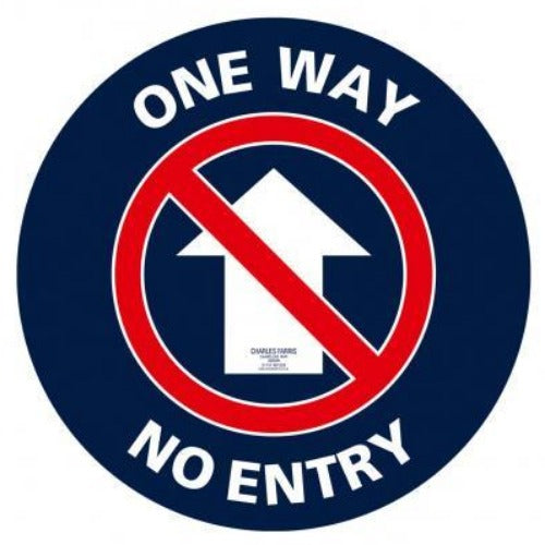 One Way/No Entry Non Slip Floor Sticker