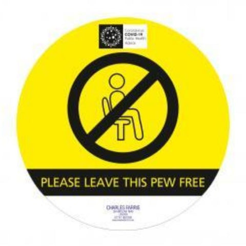 "250MM Dia ""DO NOT USE PEW"" Sticker - Pack 5"