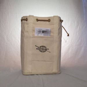 #711 Original Nantucket Diddy Bagg - Tall Canvas Tool Tote
