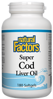 Natural Factors Super Cod Liver Oil - 180 Softgels