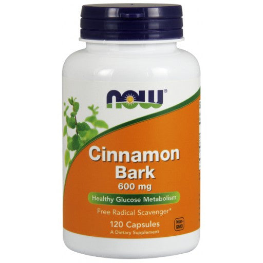 Now Cinnamon Bark 600mg - 120 Capsules
