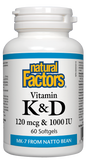 Vitamin K & D - 120 mcg and 1000 IU 60 Softgels
