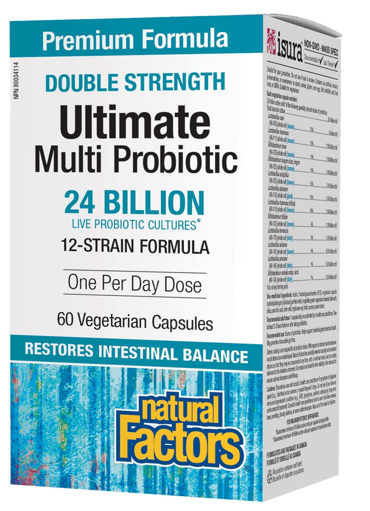 Natural Factors Ultimate Multi Probiotic Double Strength - 60 Capsules