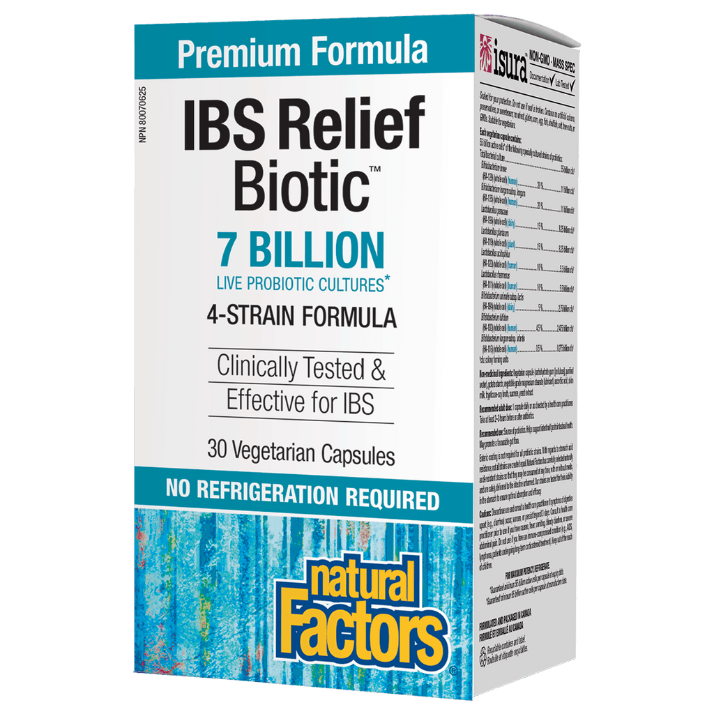 Natural Factors IBS Relief Biotic 7 Billion - 30 Capsules