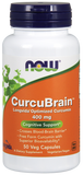Now CurcuBrain 400mg - 50 Capsules