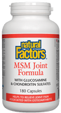Natural Factors MSM Joint Formula - 180 Capsules