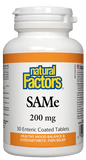 Natural Factors SAMe 200mg - 30 Tablets