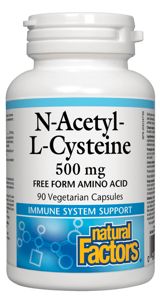 Natural Factors N-Acetyl-L-Cysteine 500mg - 90 Capsules