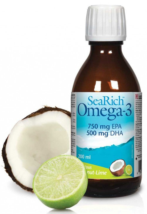 SeaRich Omega-3 750mg EPA 500mg DHA Coconut-Lime - 200ml