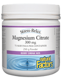 Natural Factors Magnesium Citrate 300mg Berry - 250g