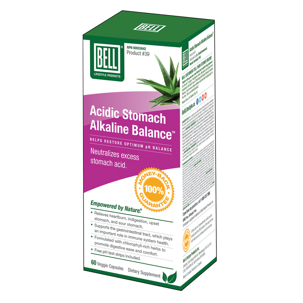 Bell Lifestyle Products Acidic Stomach Alkaline Balance - 60 Capsules