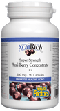 Natural Factors AcaiRich® Super Strength Acai Berry Concentrate 500mg - 90 Capsules