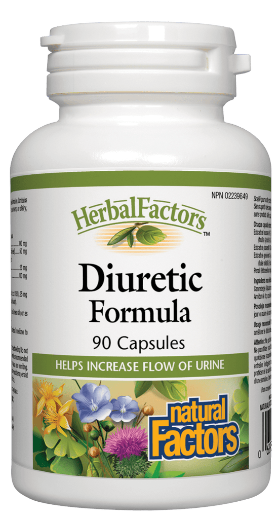 Natural Factors Diuretic Formula - 90 Capsules