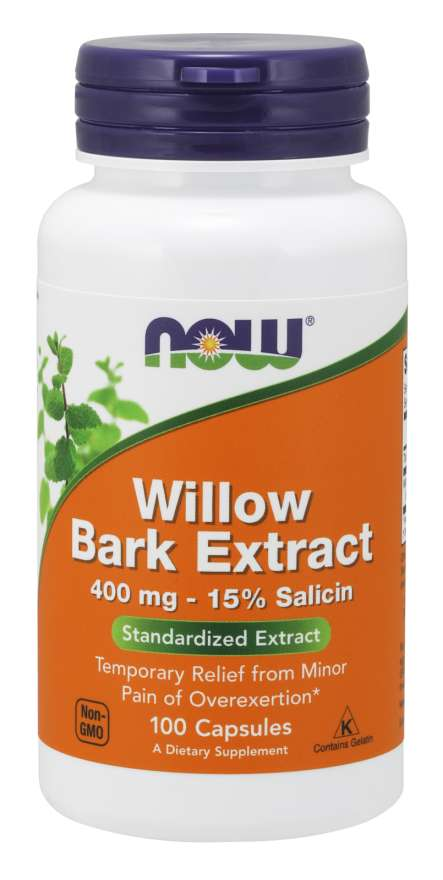 Now Willow Bark Extract 400mg - 100 Capsules