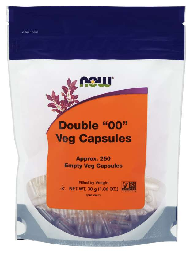 "Now Vegetarian Double ""00"" Empty Capsules - 250"