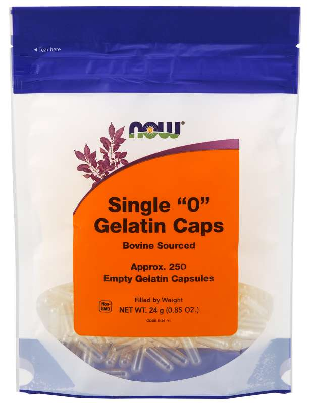 Now Gelatin Single ''0'' Empty Capsules - 250